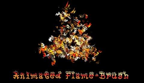 animated flame brush